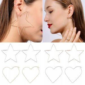 Star large Goldtone earrings